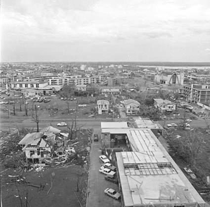 Mitchell St after Cyclone Tracy