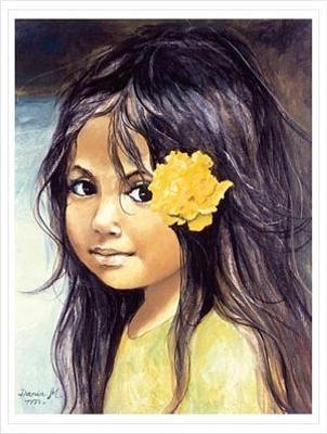 Portret dziewczynki ze starej pocztówki 12.