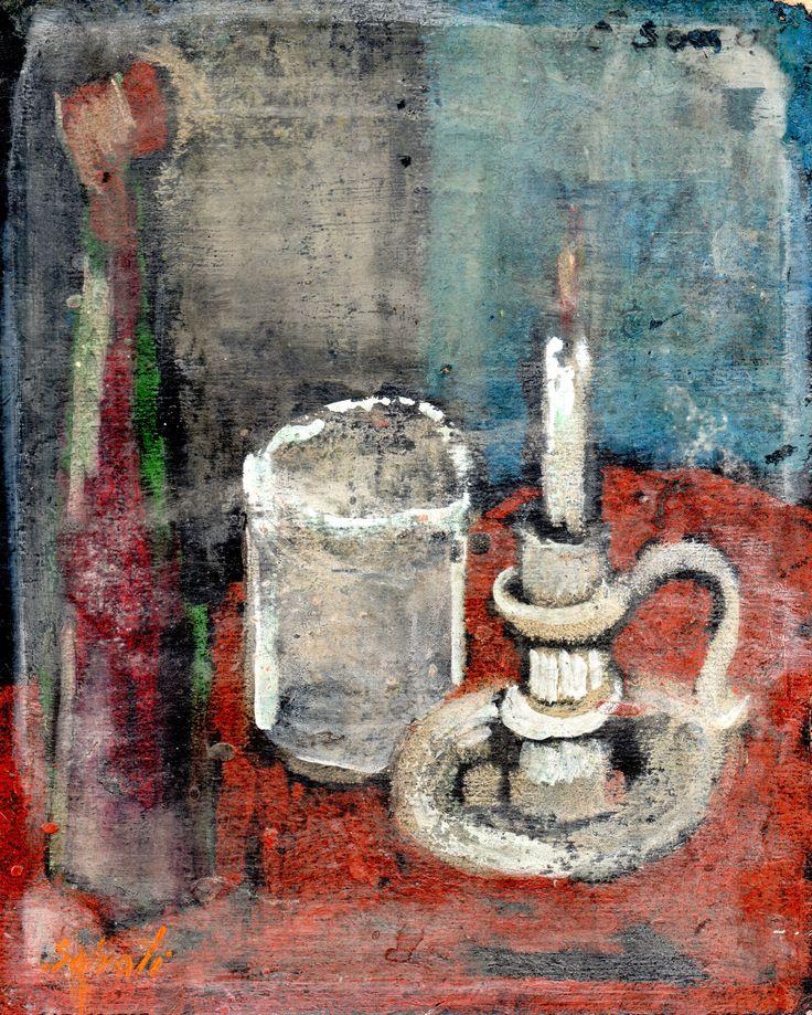 PAOLO SALVATI - Opere di fantasia - 1990 - Gessetto 12x15.