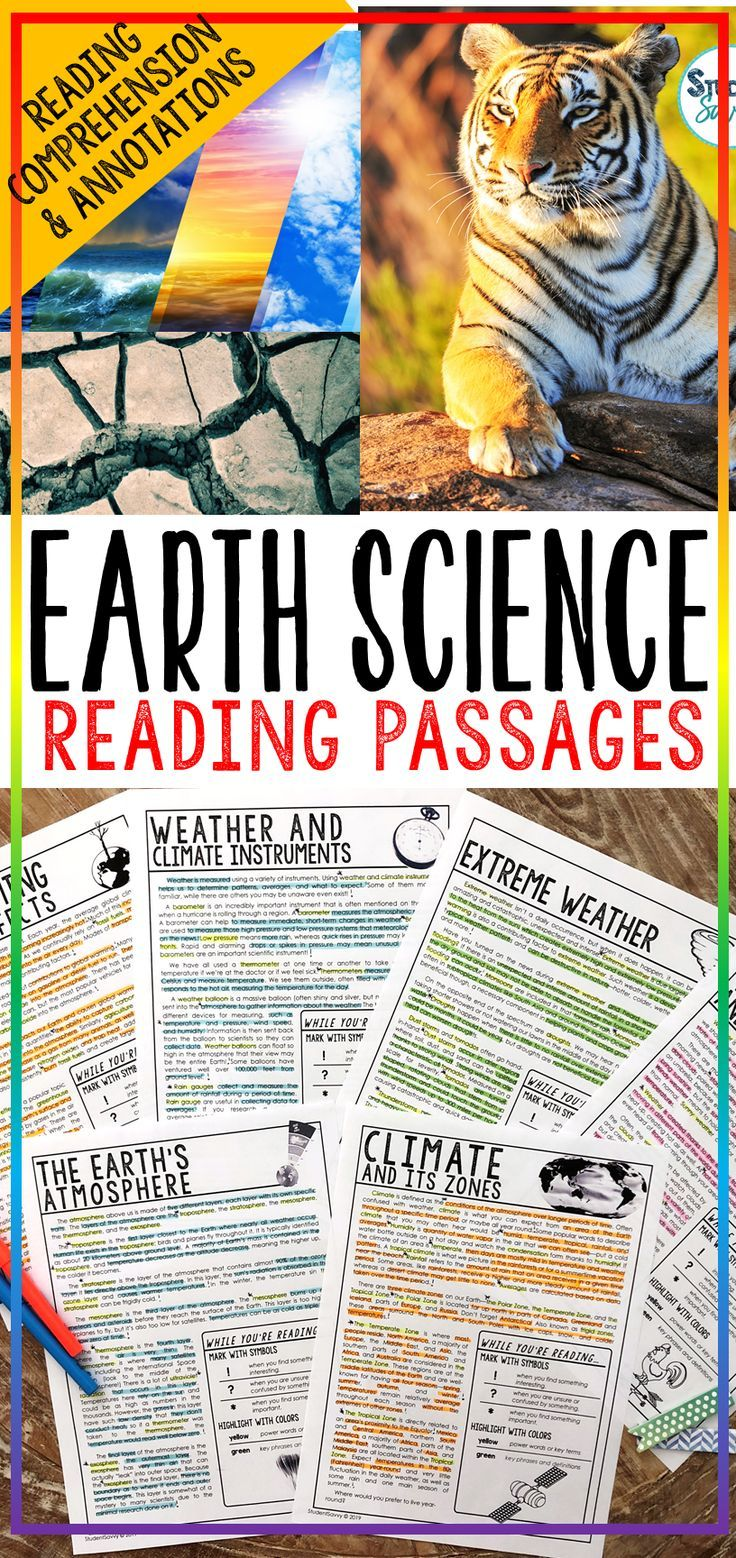 Earth Science Reading Comprehension Passages Worksheets Questions And Annotations Bundle This Bun Science Reading Passages Science Reading Reading Passages [ 1558 x 736 Pixel ]