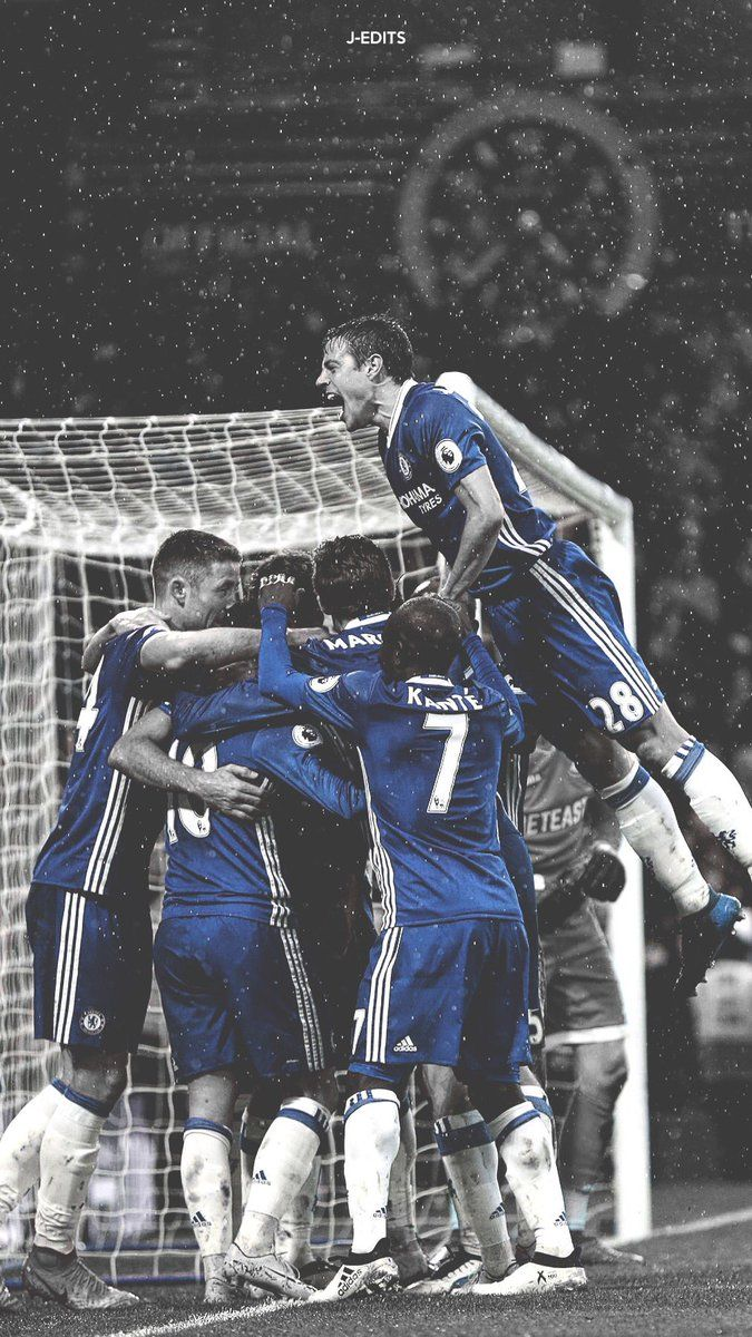 Chelsea Football Fc 2017 British Players Fans Idol Banner Wallpaper