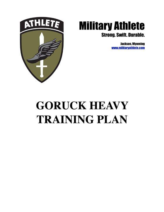 military athlete training program pdf