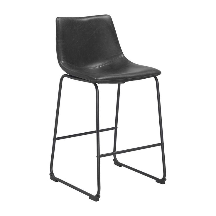 Buy Modern Bar Stools Online or Visit Our Showrooms To Get Inspired With The Latest Bar Stools From Life Interiors - Bailey Bar Stool (Black Vintage Leatherette)