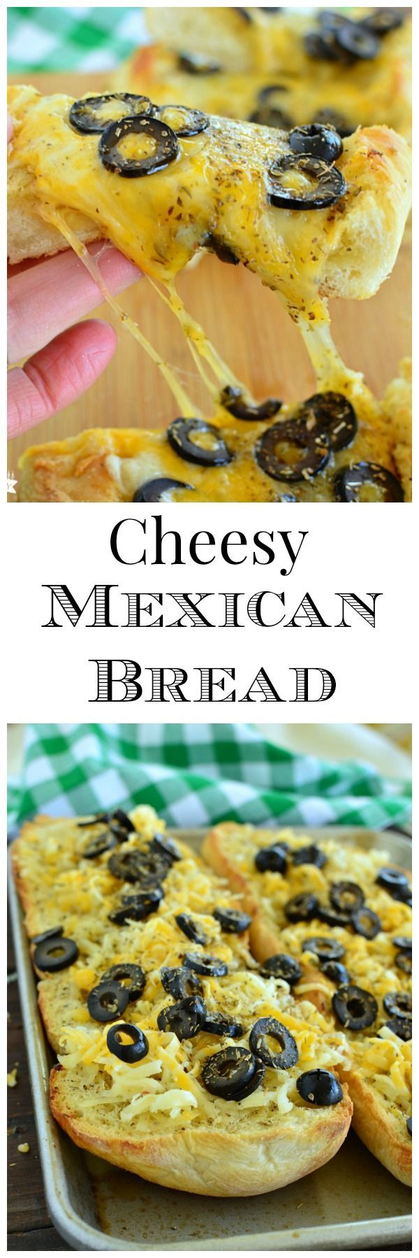 Cheesy Mexican Bread is a spicy twist on traditional Garlic French Bread! Serve it with soup, salad, or with salsa! #easyrecipe #Rhodes #frozen dough www.littledairyontheprairie.com
