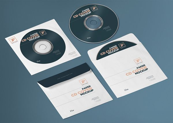 Free Isometric PSD CD Cover & CD Cover Mockup