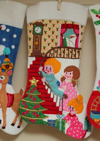 67 best Christmas Stockings images on Pinterest Vintage christmas