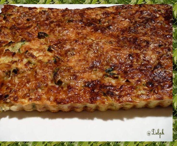 Recette Tarte aux courgettes sans pâte par cuisinerpassion - recette de la catégorie Tartes et tourtes salées, pizzas