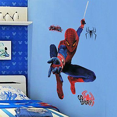Spiderman Wall Sticker 45 x 25.5 Large PVC Spider Man Theme Kids Room Wall Decal Cling @ niftywarehouse.com