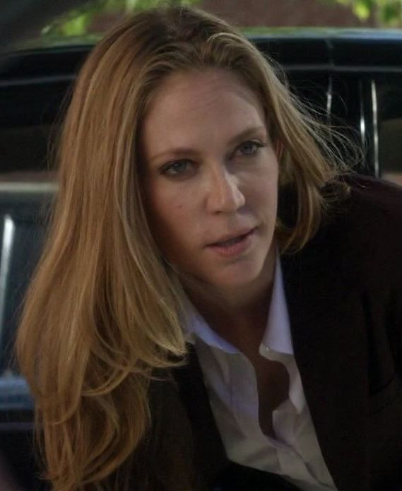 ATF Agent June Stahl(Ally Walker) Sons of Anarchy.  If anyone came close to matching evilness to Gemma.  This was her.  She was one of the most hated characters ever.  She was the most conniving, ruthless bitch ever.