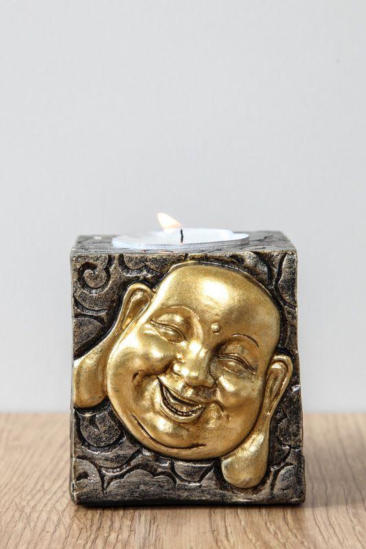 Windlicht Happy buddha kopf 9 CHF