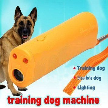 HOP LINK 3 in 1 Anti Barking Stop Ultrasonic bark Pet Dog Repeller Instructor Training Device with LED