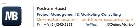 Branded and social media details email signature.