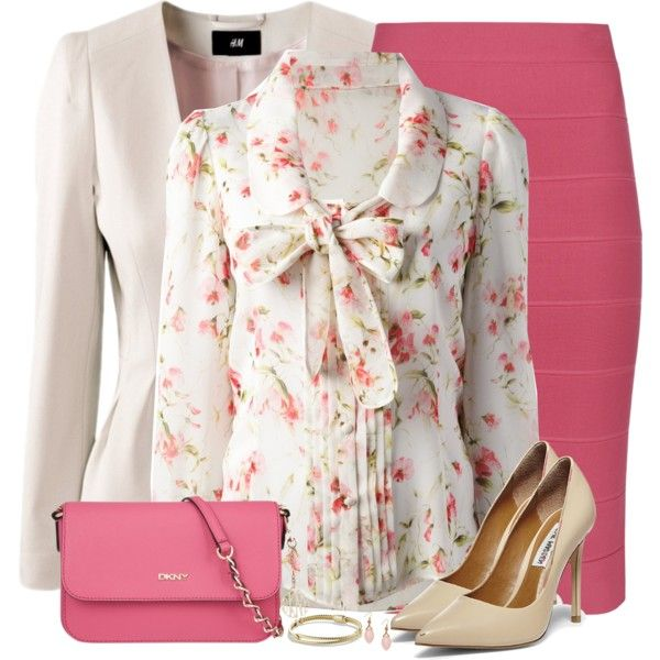 Pink Pencil Skirt by daiscat on Polyvore