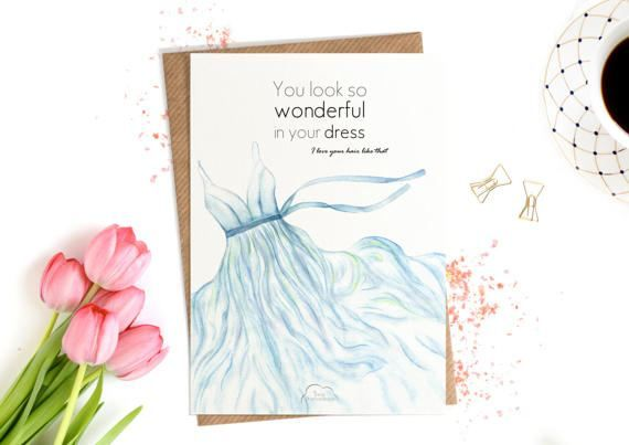 Printed Watercolor cards Lyric card Tenerife Sea от WhiteWildRose
