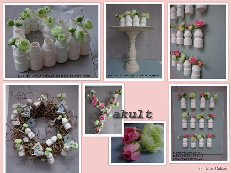 creatief met Yakult flesjes
