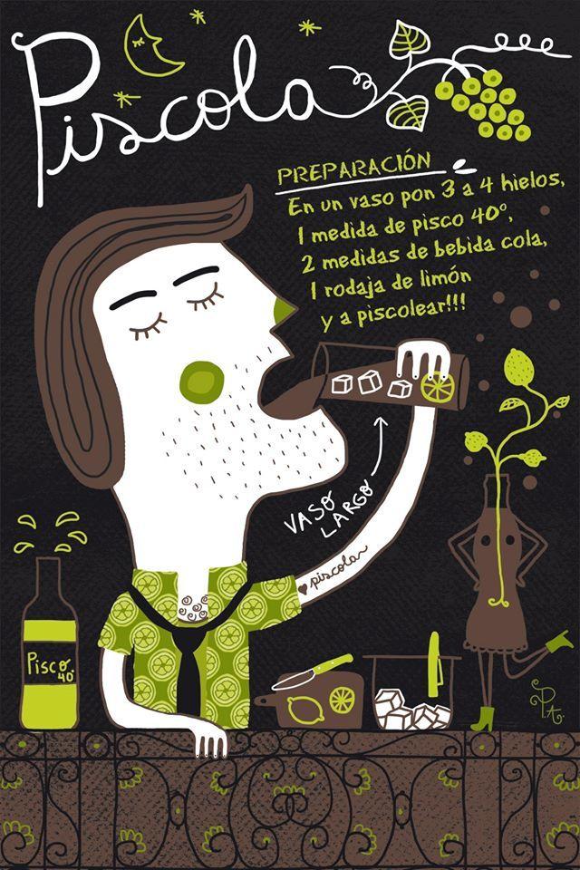 Cositas Ricas Ilustradas por Pati Aguilera: Piscola