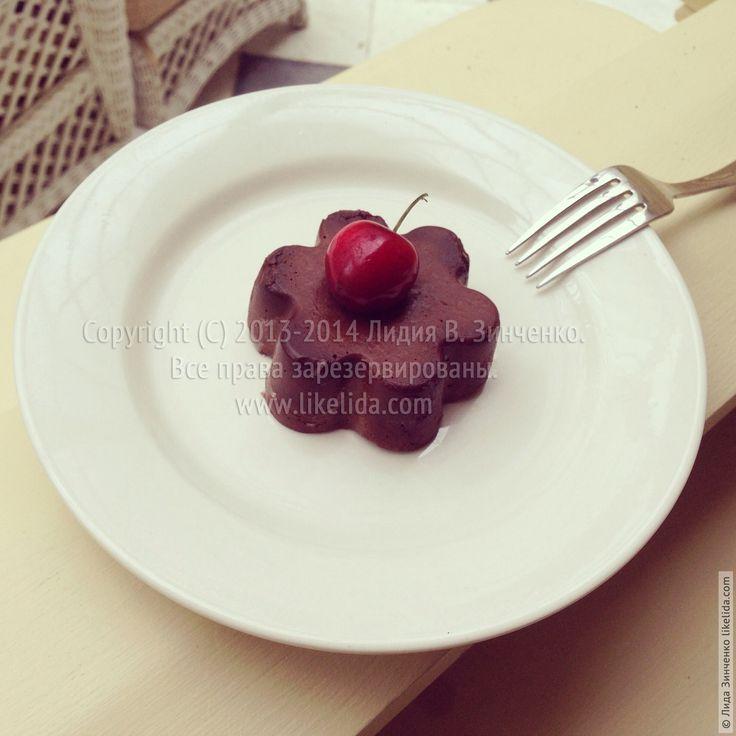 Шоколадно-банановый пудинг с манкой