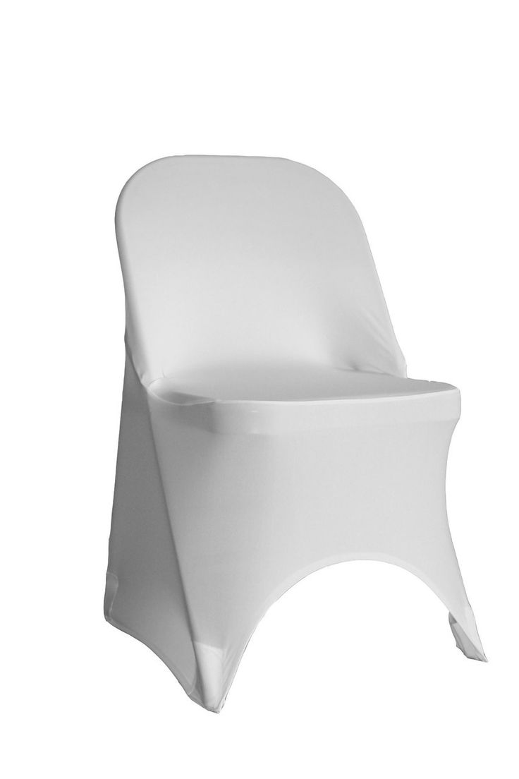 Spandex Folding Chair Cover White