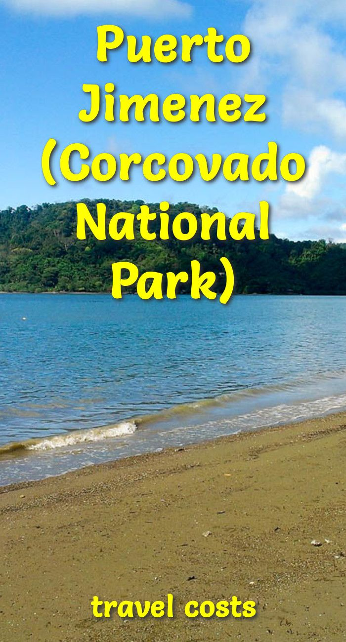 Travel costs for Puerto Jimenez (Corcovado National Park)