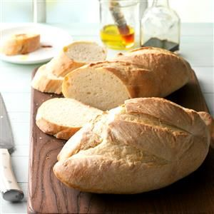 Mom's Italian Bread Recipe -I think Mom used to bake at least four of these tender loaves at once, and they never lasted long. She served the bread with every Italian meal. I love it toasted, too. —Linda Harrington, Windham, New Hampshire