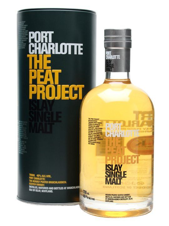 Port Charlotte / The Peat Project : Buy Online - The Whisky Exchange - A statement of intent from Bruichladdich master distiller Jim McEwan, showing his vivions for Port Charlotte spirit - peated to 44ppm and vatted from various vintages.