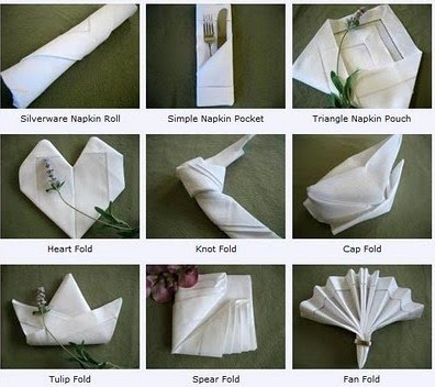 Different Ways To Fold Napkins More Ideas Are On The Site
