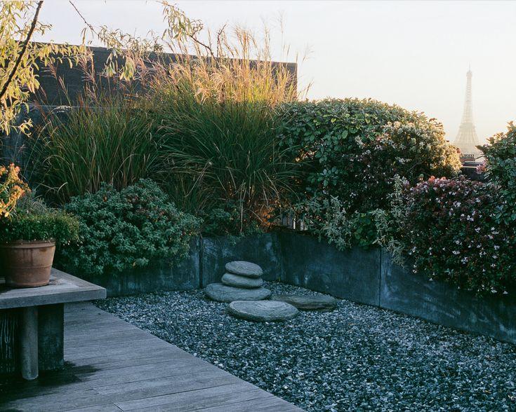 brick garden sculptures top of paris camille muller garden roof pinterest gardens