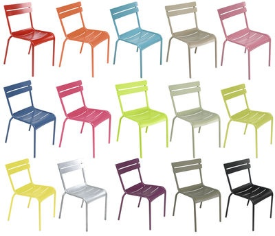 #Chairs of every #color - the famed Luxembourg by Fermob