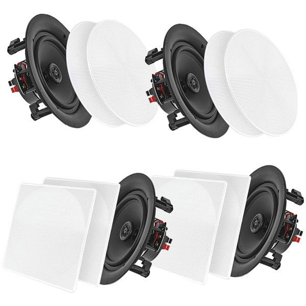 """PYLE HOME PDICBT256 5.25"""" Bluetooth(R) Ceiling-Wall Speakers, 4 pk"""