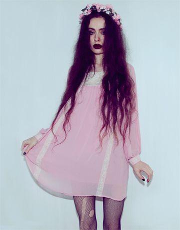 • flowers pastel pastel goth soft grunge kreep-fest •