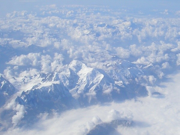 French Alps from the air
