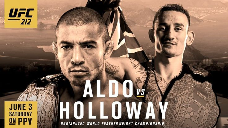 Don't miss #UFC212 on Saturday June 3rd #AldovsHolloway. Should be a great #fightwho do you think will win?  #UFC #mma #mlmma #mustlovemma #martialarts #mixedmartialarts #susancingari #danawhite #josealdo #maxholloway #boxing #kickboxing #bjj #wrestling #octagon
