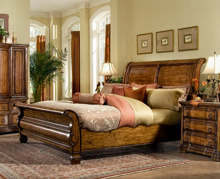 Villa Hermosa Sleigh Bed For The Home Pinterest