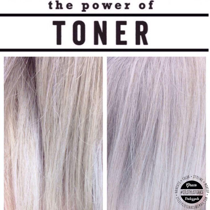 The difference toner can use on any hair tone! Paul Mitchell Flash Finish - .5 oz violet .5 icy blue violet transformed this light blonde into a more silver tone of hair #STLStylistGrace