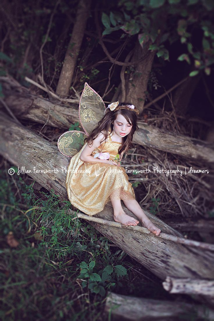 Fairy themed photography session for a little girl.  Jillian Farnsworth Photography in Saint Louis, MO.