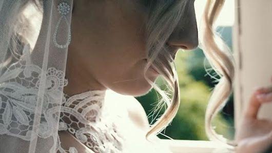 Brigitte / real bride wearing custom Rose Zurzolo Couture