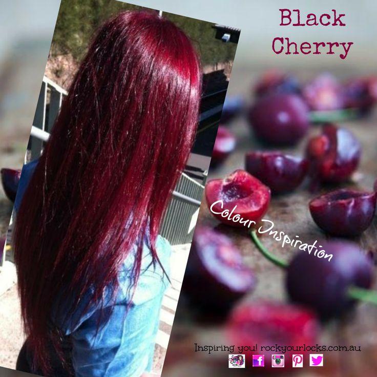 trending black cherry hair