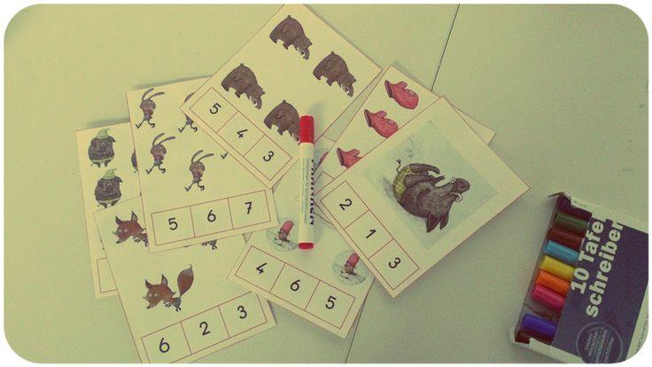La Moufle Cartes à compter et Puzzles - La Classe de Marybop
