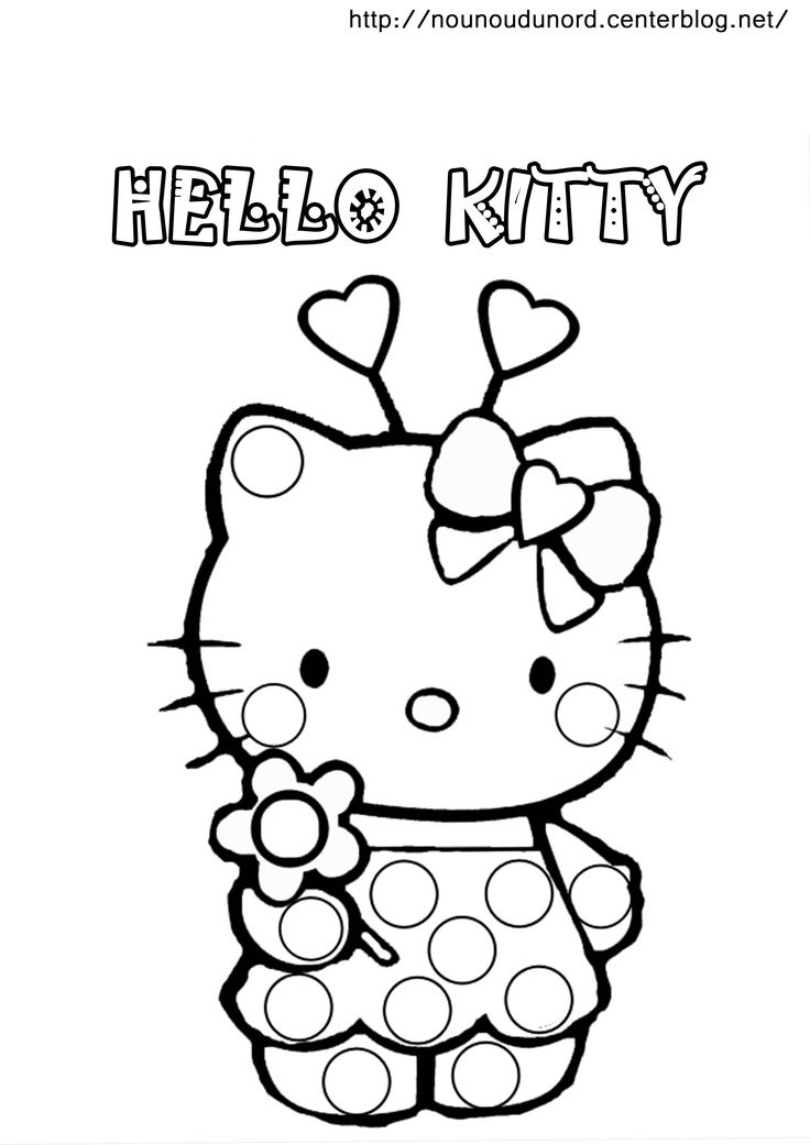 15 best images about printable magic nuudle coloring pages on pinterest hello kitty markers - Coloriage hello kitty ...