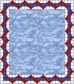 THE BAG LADY FROM THE BAY: Entwined Quilt Border
