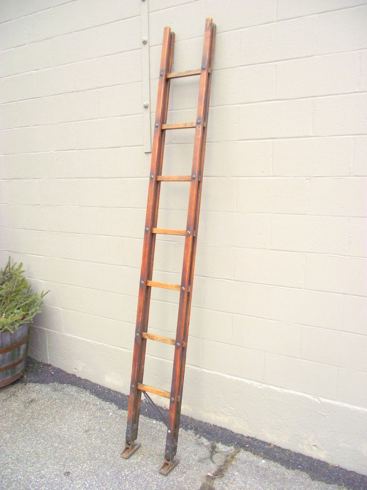 Antique Folding Fireman's Wooden Attic Pole Stick Ladder - Collectible Firefighter Equipment Tool Memorabilia - Industrial Gear - Quilt Rack by OldMillVintage on Etsy https://www.etsy.com/listing/519612947/antique-folding-firemans-wooden-attic