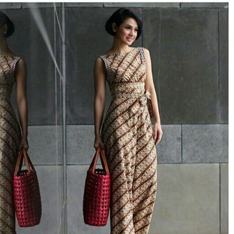 Image result for batik dress sleeveless indonesia