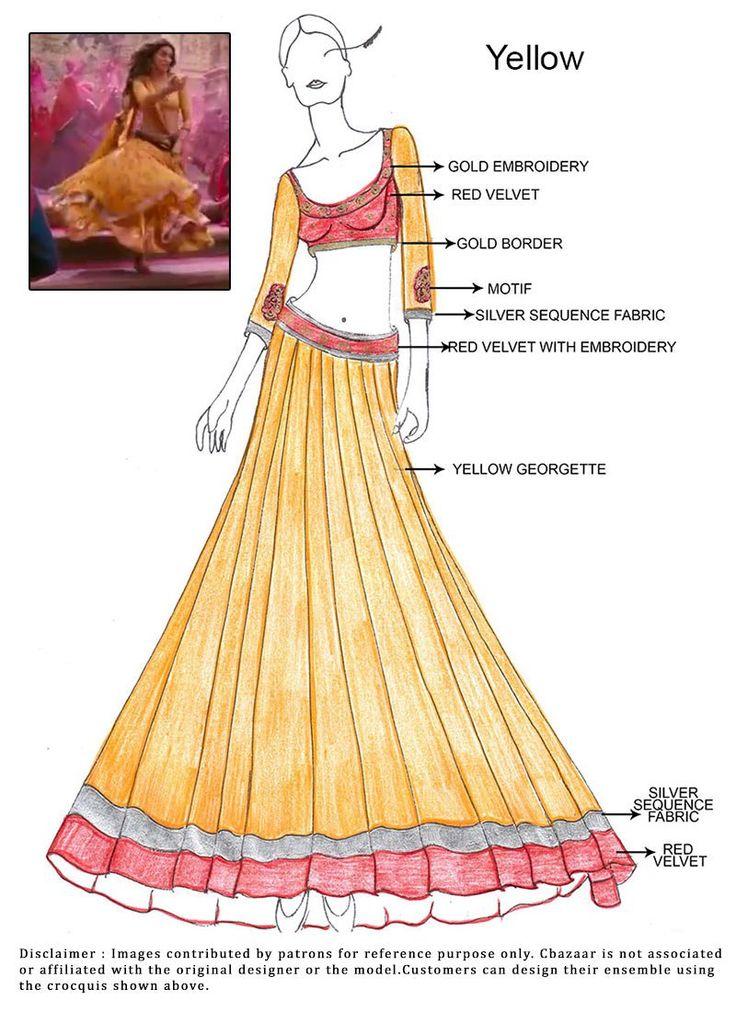 DIY Yellow Ram Leela Lehenga