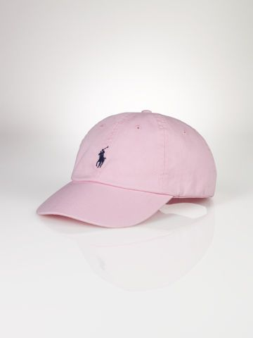 Signature Pony Cap - Polo Ralph Lauren Hats - Carmel Pink - RalphLauren.com $35 OR Crosby Red, Vacation Blue