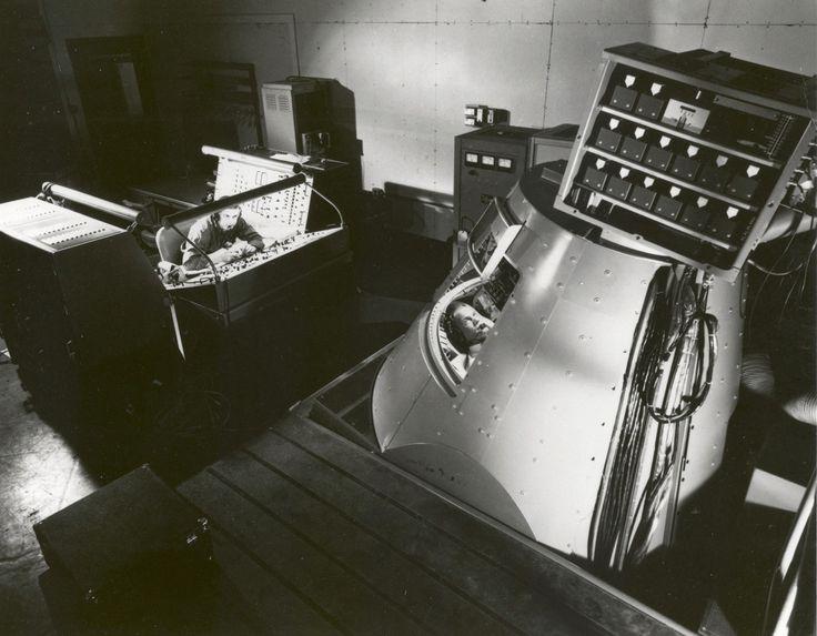 Glenn spent hours in the Mercury Procedures Trainer at NASA Langley.