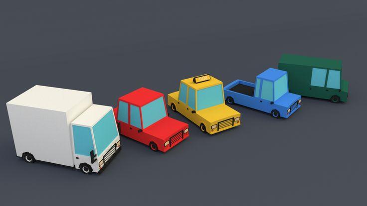 Low Poly Cars by Dustinnb.deviantart.com on @DeviantArt