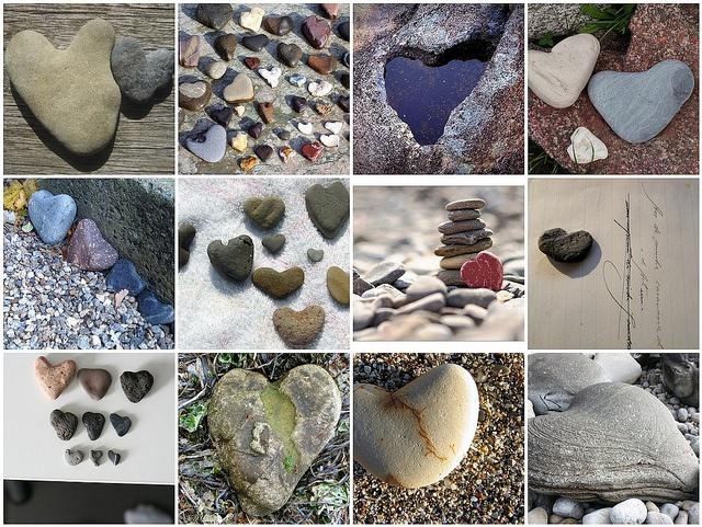 Always looking, everywhere I goHeart Stones, Heart Mosaics, Collection Heart, Life Imitation, Art Imitation, Imitation Life, Finding Heart, Angels Wings, Imitation Art