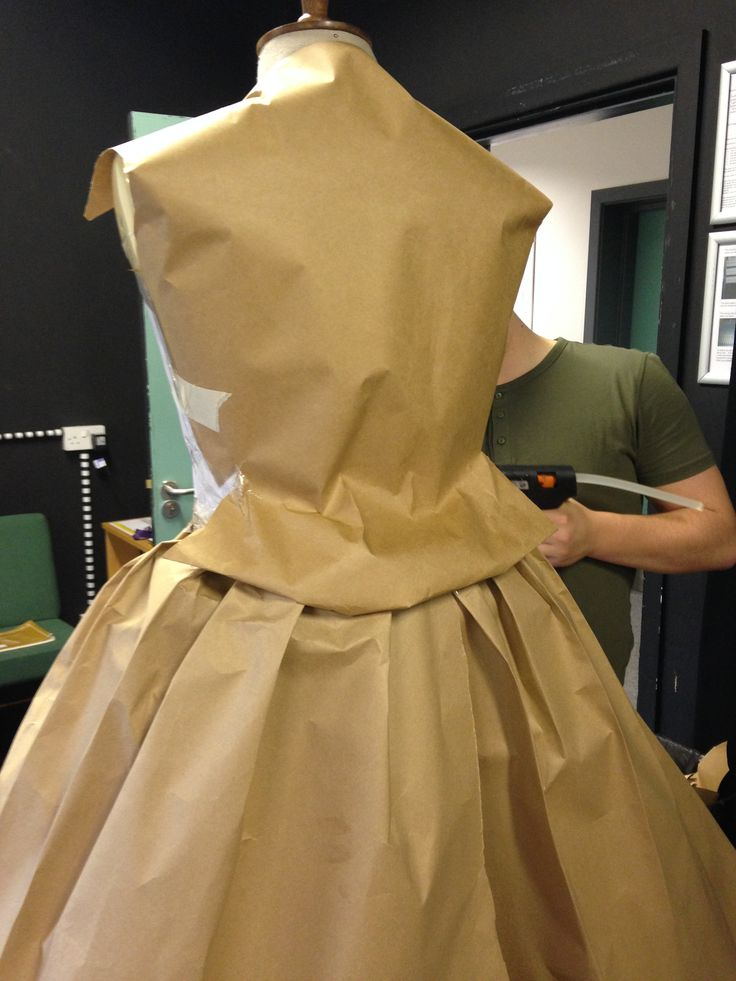 IN THE PROCESS: paper costume for uni, made by me, sam and reece