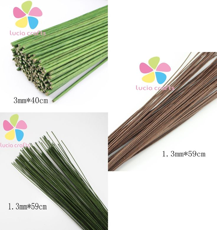 Cheap flower wedding, Buy Quality flower girl dresses flowers directly from China flower logo Suppliers: 1.3mm 59cm/3mm 40cmLength green color paper pachets with wire artificial flower stem 12pcs/lot 086020033