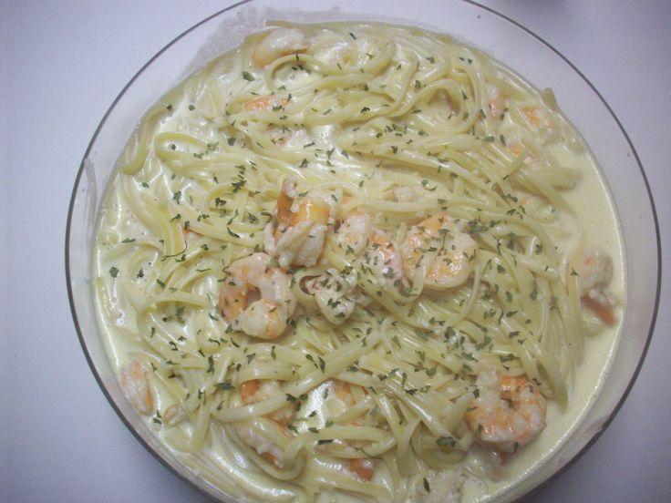 Chicken And Shrimp Pasta Alfredo | homemade pasta start off with the shrimp alfredo linguine pasta